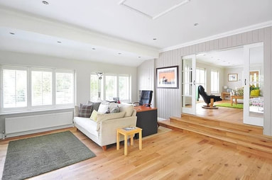 A beautiful hardwood floor in a house in Stamford.